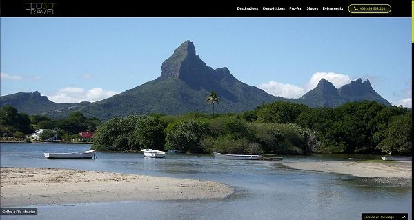 Suivez la progression de la refonte du site Internet de l'agence Tee Off Travel